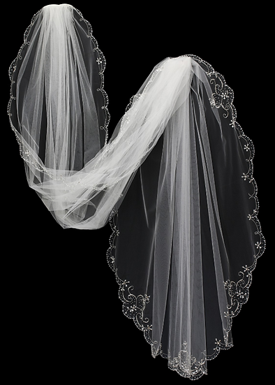 Beaded Cathedral Veil DS #5003