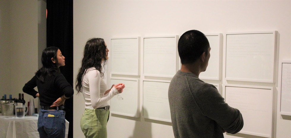 Opening reception of 'I know it upsets you' and 'Liquid State', 2020