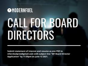 Call for Board Directors!