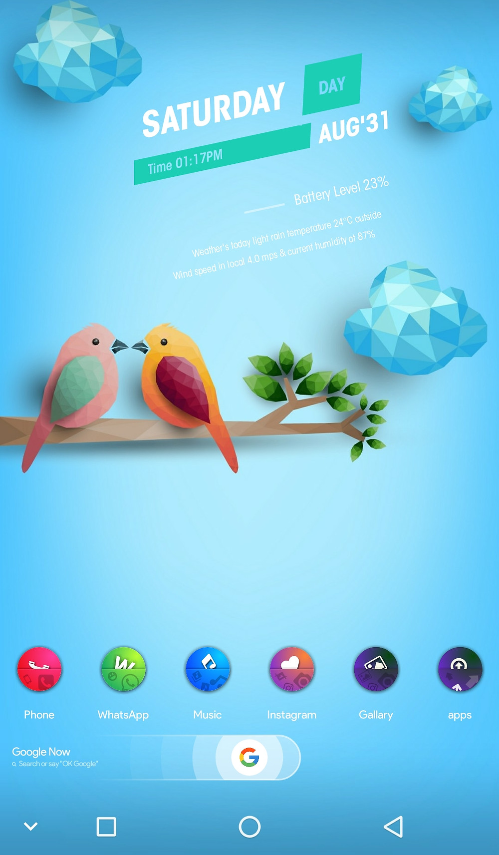 How to create a beautiful home screen for your android mobile