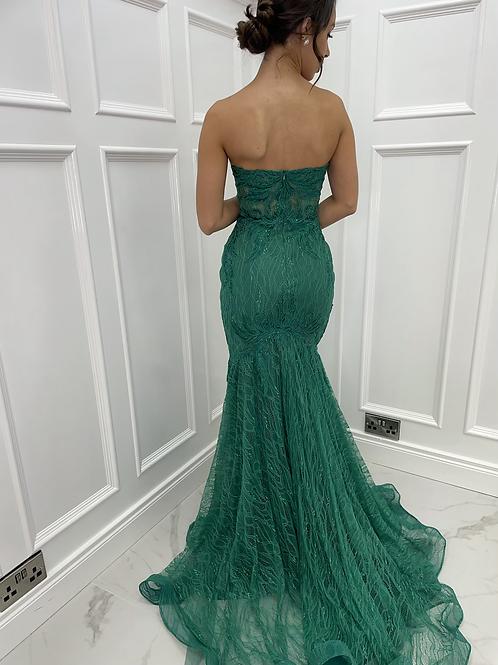 Isla Emerald Green Formal Dress
