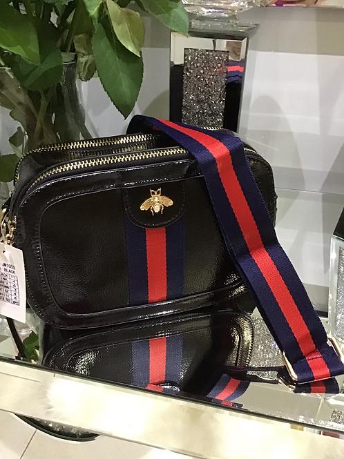 Black bee crossover bag
