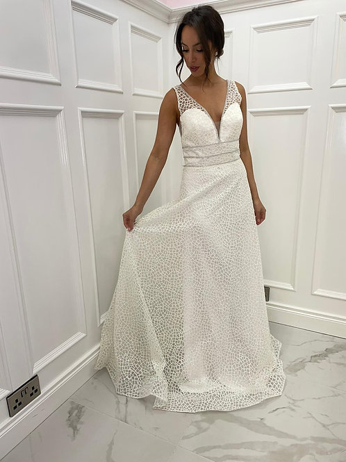 Anna white formal dress