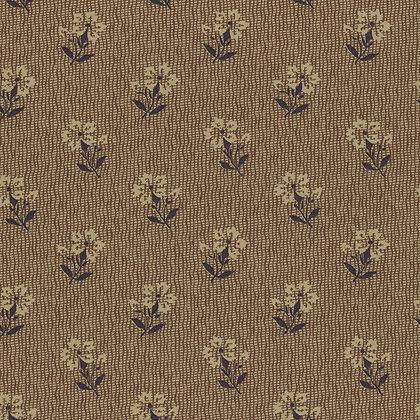 Lecien Fabrics Centenary Collection Brown Flower Yoko Saito 31404-10