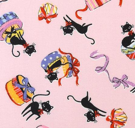 Parasols & Kittys Pink Kitties 8837-12B