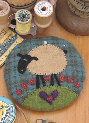 Hatched and Patched Larry The Lamb Pincushion Pattern
