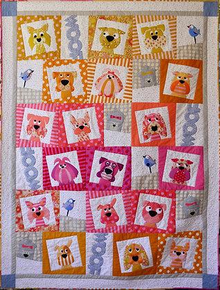 Claire Turpin Designs Dogface applique quilt pattern