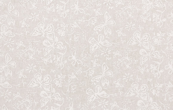 White and Natural Butterflies White Wide Back Fabric  gl6859.03