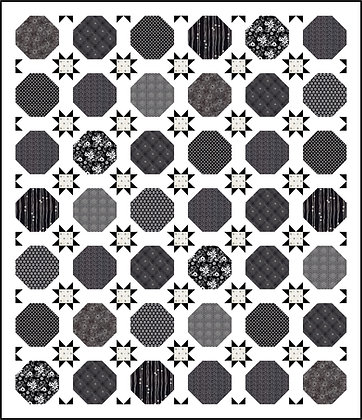 Hexagons & Stars Quilt Pattern