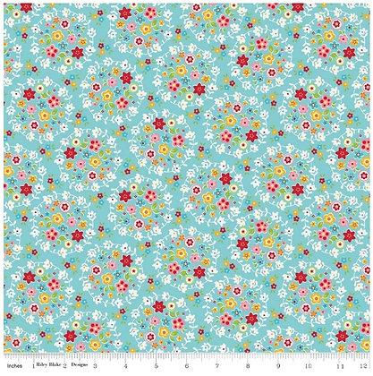 Blooms and Bliss Nadra Ridgeway C4581 Blue riley blake designs