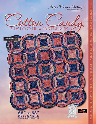 Cotton Candy Sawtooth Wedding Ring Pattern