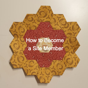 How to Sign Up to the  Mystery Hexagon Quilt