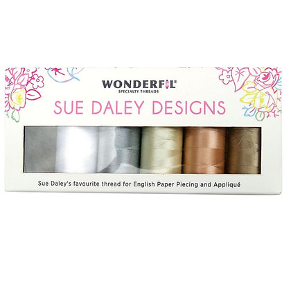 Sue Daley Wonderfil Thread Pack 80wt Neutrals
