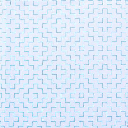 Geometric Sashiko Panel White