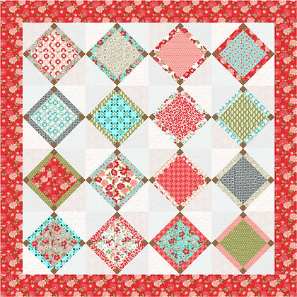 Delahey Diamonds Quilt PDF Pattern