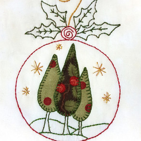 12 Weeks of Christmas Free Christmas Stitchery Patterns