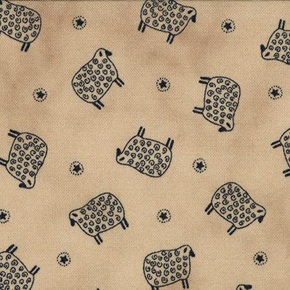 Old Glory Gatherings SheepTan Primitive Gatherings Moda Fabrics 1071-14