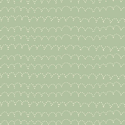Bambini Fabrics Newborn Dotted scallops on green 6073-104