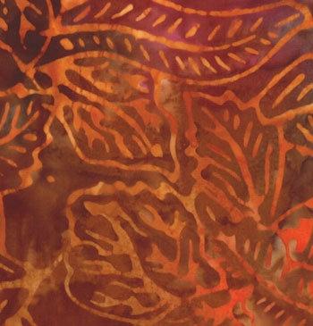 Moda Over the Rainbow Batik Orange Brown Australia Melbourne Fabric