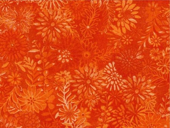 Orange Flower Wide Back
