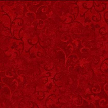 Essentials Filigree Red 108 inch wide back