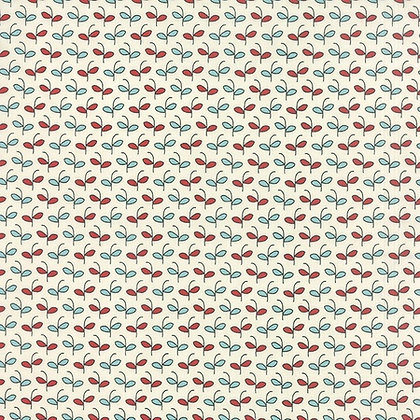 Moda Feed Company 5573-14 Sweetwater Australia Melbourne Fabric White Cream Blue Red