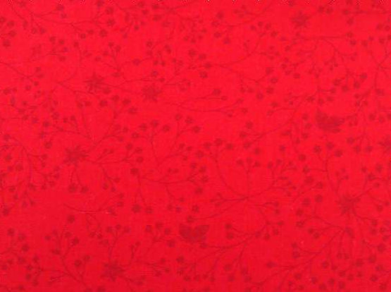 red Flutter wide back fabric by SSS