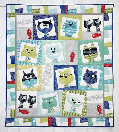 Catface quilt Pattern Claire Turpin