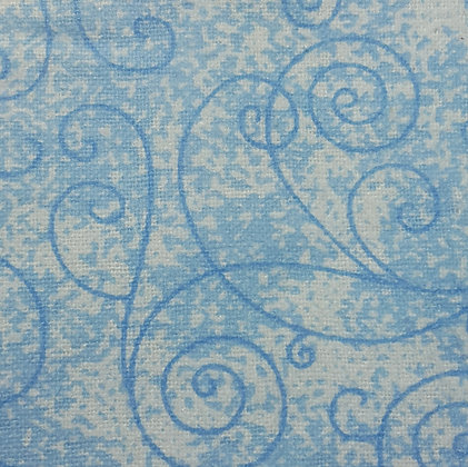Harmony Flannel - Sky Blue - Wide Back