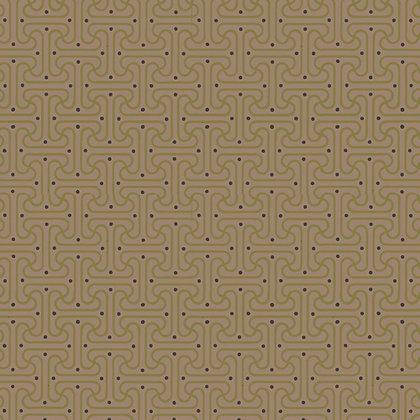 Art Gallery Fabrics Alhambra Tiny Granada Maze Brown Pat Bravo AH-225