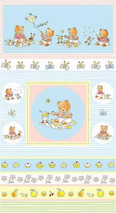 Bobbies Picnic Teddy panel 4503-354 stof fabrics