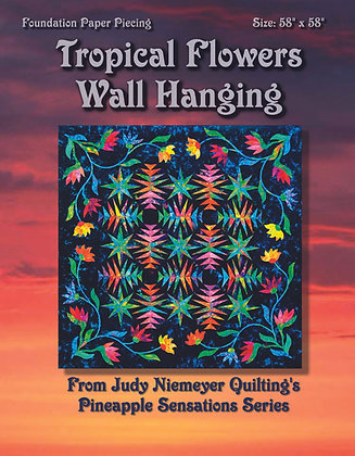 Tropical Flowers Wall Hanging Pattern