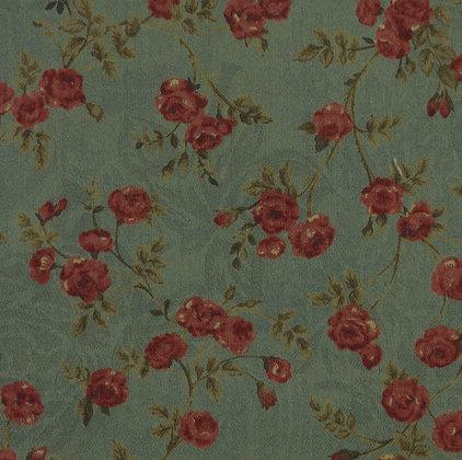 Moda Fabrics Camilla Jacquard Sentimental Studios 15343-12 Australia Melbourne Fabric Green Red
