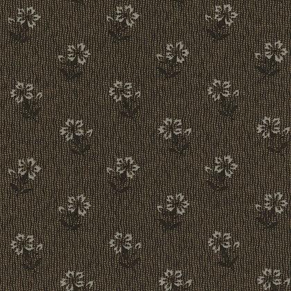 Lecien Fabrics Centenary Collection Dark Brown Flower Yoko Saito 31404-88