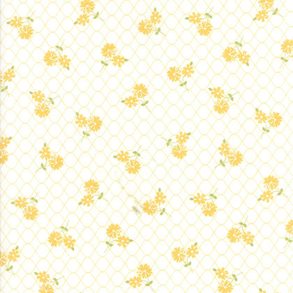 Pepper & Flax Corey Yoder 29041-11 Yellow Flowers on Cream moda fabrics