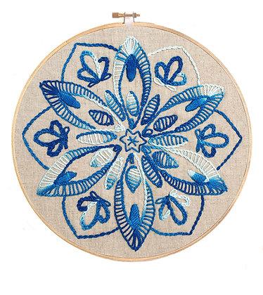 Mandala 16 Stitchery Pattern