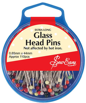 Sew Easy Glass Head Pins