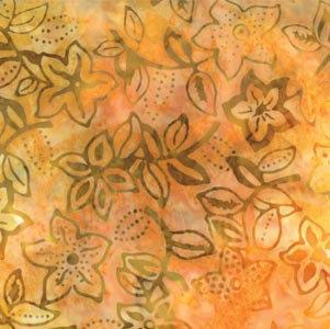 Moda Over the Rainbow Batik Yellow Australia Melbourne Fabric