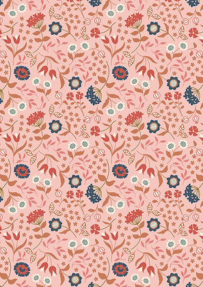 Chieveley Lewis and Irene Country House Floral On Pink 7024-12