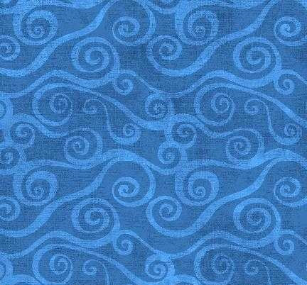 Wilmington essential swirly scroll wide back royal blue
