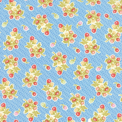 Moda Fabrics Aloha Girl Fig Tree & Co Blue Australia Melbourne 20248-12