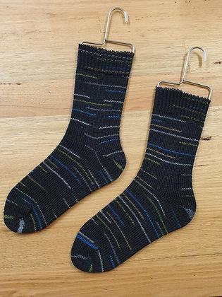 Hand Made Socks Lignite