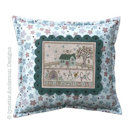 Spring Cushion Stitchery Pattern