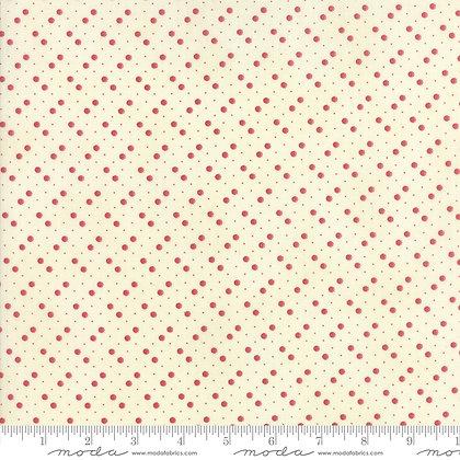 Holly Woods 3 Sisters 44176-22 Red Spots on Cream moda fabrics
