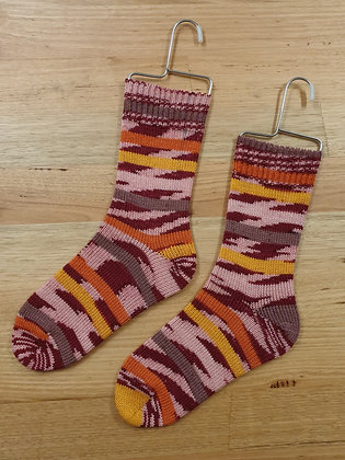 Hand Made Socks Imprim Rouge Socks Please Socks by Shirl