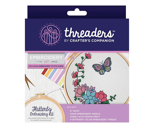 Crafter's Companion Threaders Flutterby Embroidery Kit