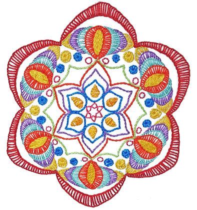 Mandala 4 Stitchery Pattern