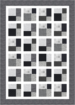 Simply black and white quilt pdf pattern