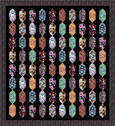 Asian Pendant Quilt PDF Pattern