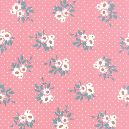 Moda Bunny Hill fabric Kindred Spirits pink flowers 2891-16 moda fabrics